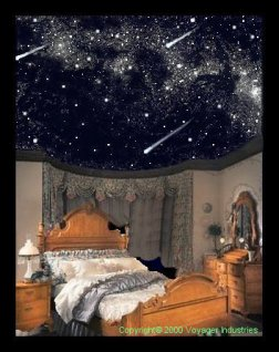 Space Night Sky Ceiling Illusion